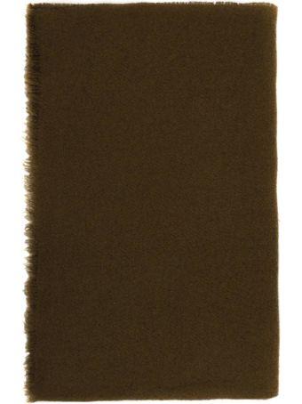 Rick Owens Khaki Wool Blend Ideal Stole