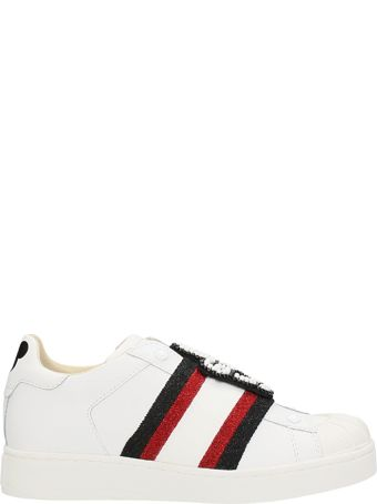 M.O.A. master of arts Mickey White Leather Sneakers