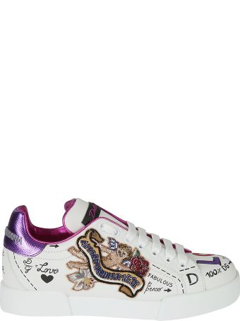 Dolce & Gabbana Embellished Scribble Sneakers