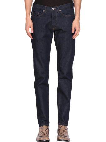 Dries Van Noten Indigo Cotton Denim Jeans