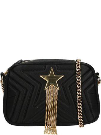 Stella McCartney Star Mini Black Satin Camera Bag