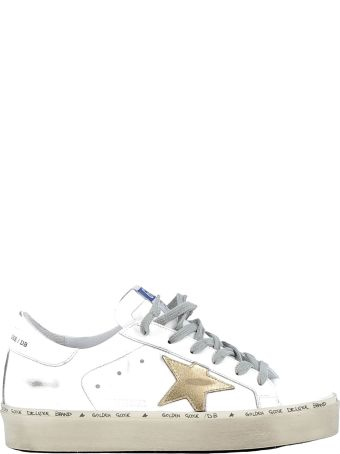 Golden Goose White/gold Leather Sneakers