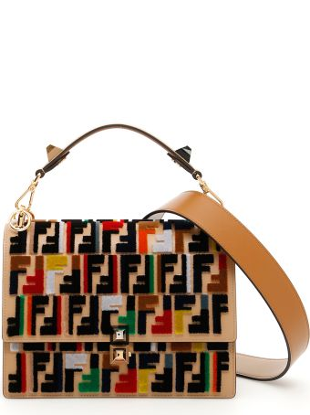 Kan I Bag With Multicolor Zucca Embroidery