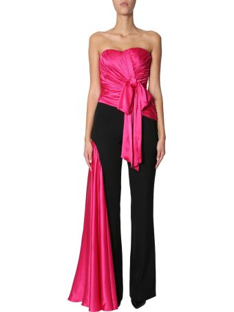 Moschino Jumpsuit With Silk-draped Inserts