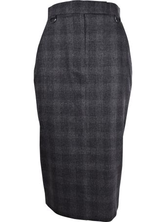 Max Mara Checked Skirt