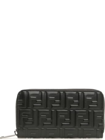 Fendi Zip-around Logo Ff Wallet