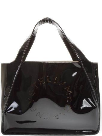 Stella McCartney Black Polyamide Holes Logo Bag