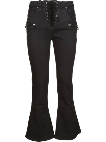 Ben Taverniti Unravel Project Flared Cropped Jeans