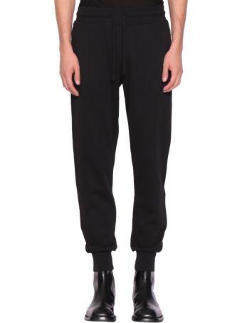 Dries Van Noten Black Cotton Sweatpants