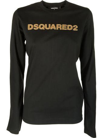 Dsquared2 Sequin Detailed Logo T-shirt