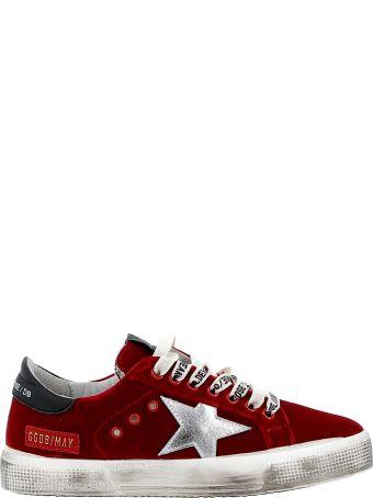 Golden Goose Red Velvet Sneakers