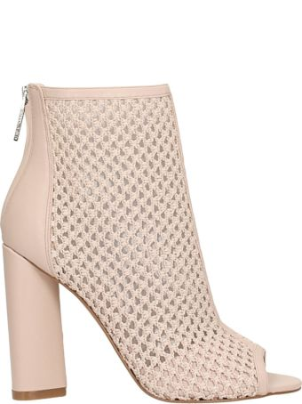 Kendall + Kylie Galla Pink Leather Ankle Boots