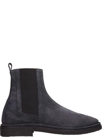 Pierre Hardy Blue Suede Chelsea Boots