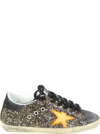 """Golden Goose """"superstar"""" Glittered Leather Sneakers"""
