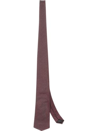 Tom Ford Red Micro-patterned Tie