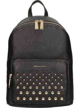 Michael Kors Black Hammered Leather Backpack