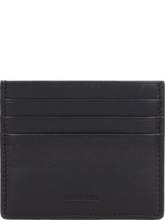 Jil Sander Blcak Leather Card Holder