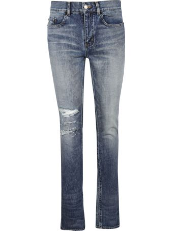 Saint Laurent Distressed Jeans