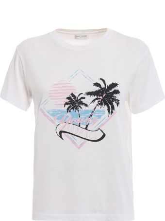 Saint Laurent T-shirt Young Romance Printed