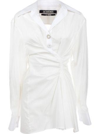 Jacquemus La Tunique Macelo Asymmetric Dress