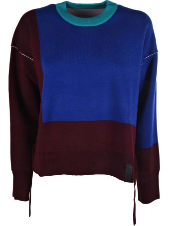 Kenzo Color Block Knit Sweater