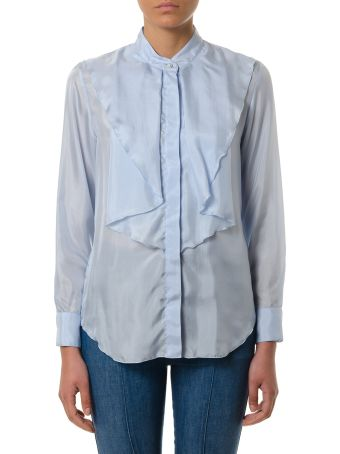 Golden Goose Light Blue Nynpha Silk Shirt