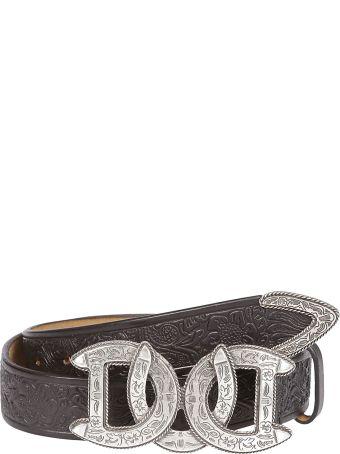 Dsquared2 Engraved Horse Shoe Belt