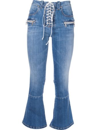 Ben Taverniti Unravel Project Unravel Project Lace-up Flared Jeans