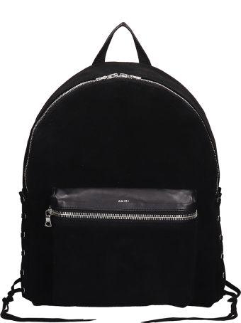 AMIRI Black Suede Lace Backpack