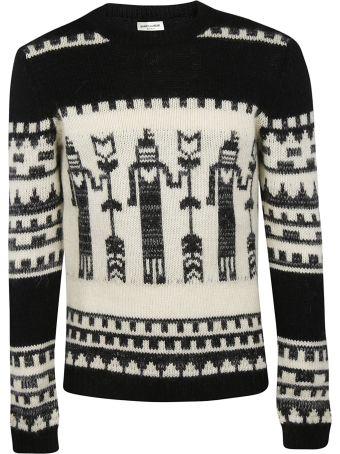 Saint Laurent Totem Intarsia Sweater