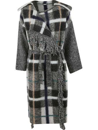 Stella McCartney Checkered Knit Oversized Coat