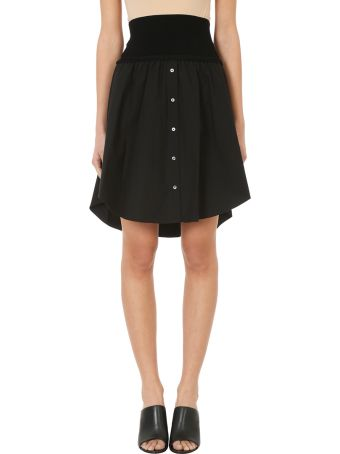 T by Alexander Wang Washed Poplin Skirt