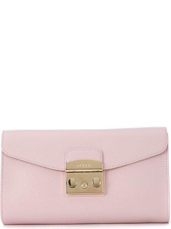 Furla Metropolis Pink Leather Shoulder Bag