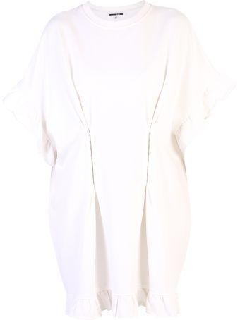 McQ Alexander McQueen White Ruffled Dress