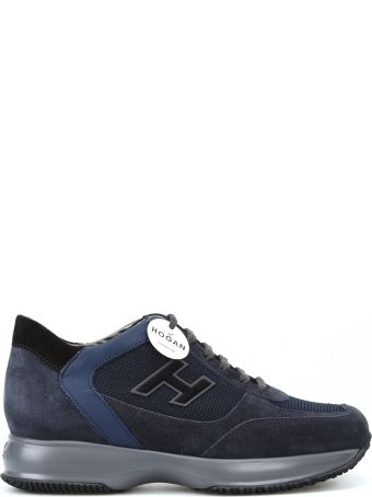 Hogan New Interactive Blue Suede Sneakers