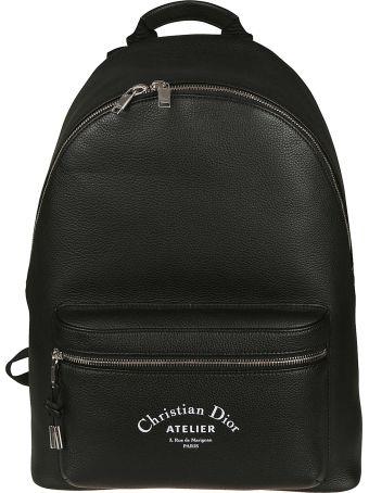 Dior Homme Logo Print Backpack