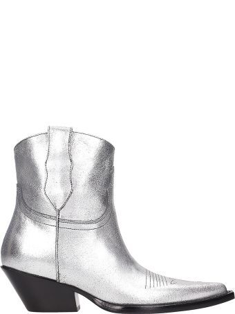 Maison Margiela Silver Leather Boots