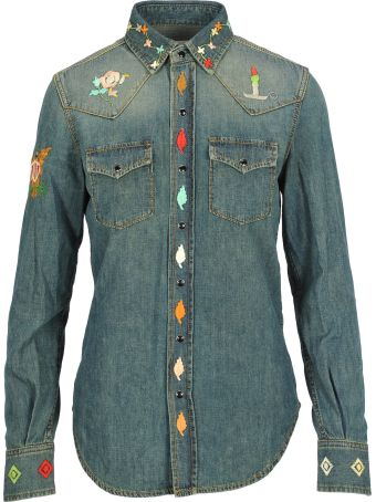 Saint Laurent Camicia Denim Naif