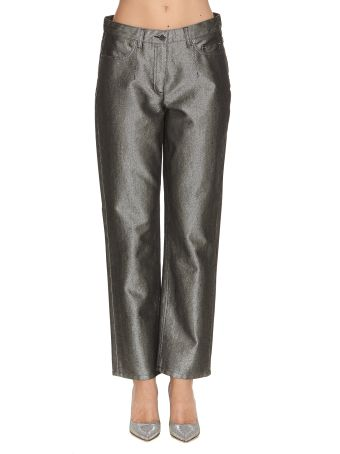 Alberta Ferretti Metallic Trousers