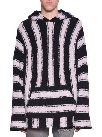 AMIRI Wool And Cashsmere Blend Striped Pullover Hoodie