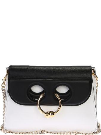 White And Black Mini Pierce Cross-body Bag