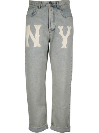 Gucci Ny Yankees Patch Jeans