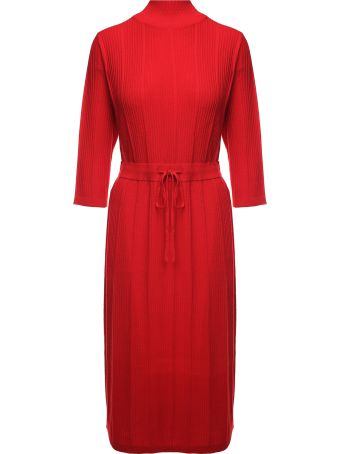 A.P.C. Vivianne Ribbed Merino-wool Midi Dress