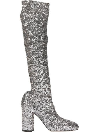Dolce & Gabbana Sequins Over-the-knee Boots