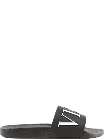 Valentino Garavani Logo Print Sliders
