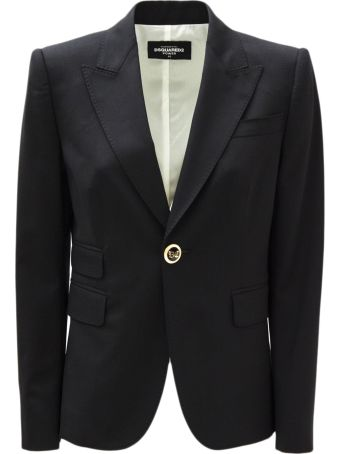 Dsquared2 Black Virgin Wool Jacket