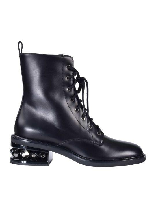 Nicholas Kirkwood Embellished Lace-up Boots