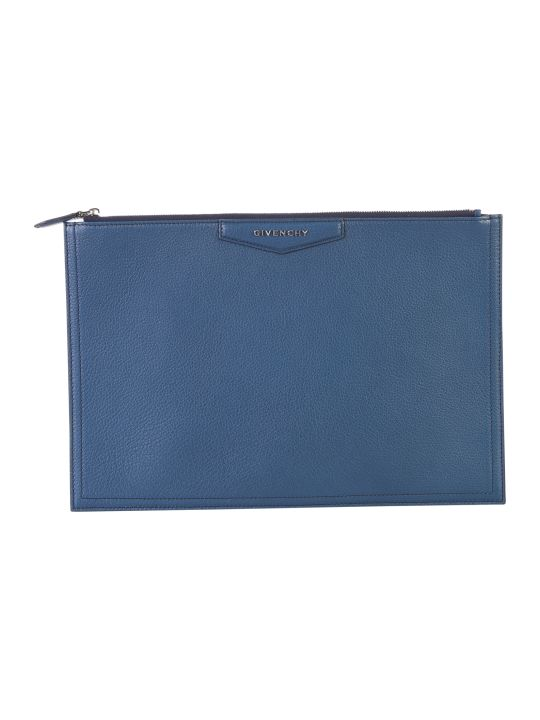 Givenchy Blue Large Antigona Clutch