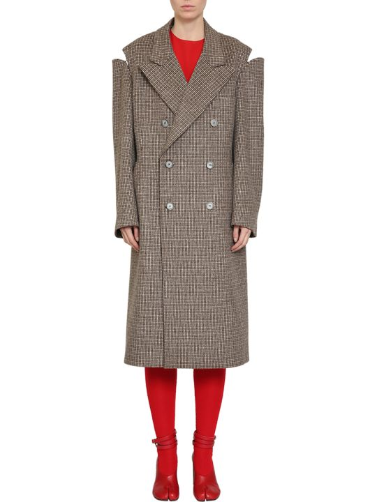 Maison Margiela Houndstooth Wool Coat
