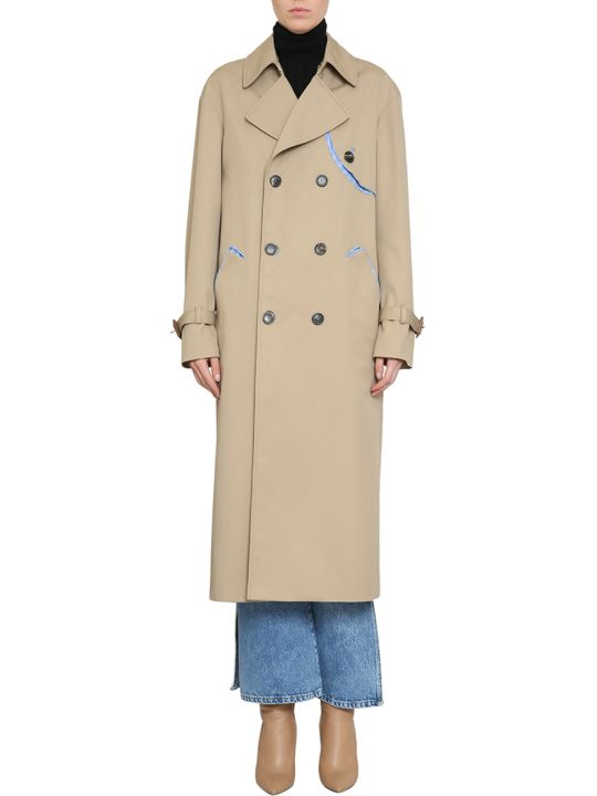 Maison Margiela Reversible Cotton Trench Coat